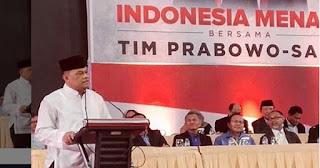 Hadir & Orasi Dalam Pidato Kebangsaan, Gatot Nurmantyo Dukung Prabowo?
