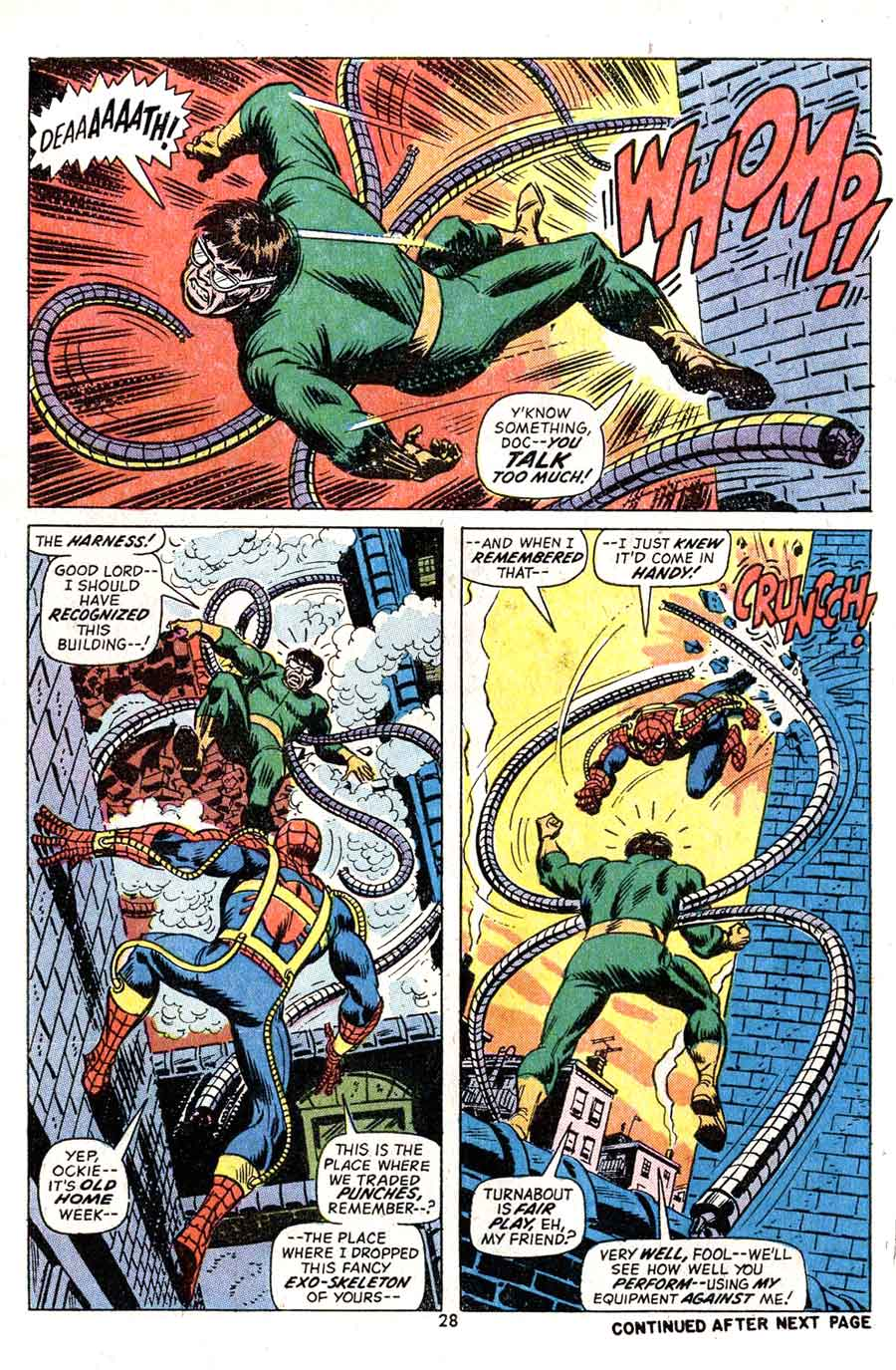 Amazing Spider-Man v1 #113 marvel comic book page art by Jim Starlin