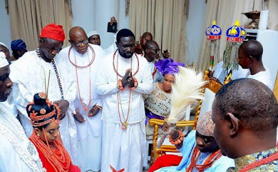 ooni of ife and wife Wuraola Zynab Otiti