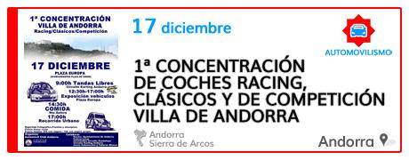 1ª Concentración de Coches Racing, Clásicos y de Competición Villa de Andorra