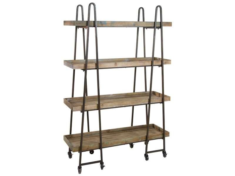 Muebles de forja estanterias de madera y forja serie agazzi - Estanteria forja ...