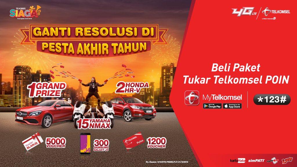 Telkomsel - Promo Tukar Telkomsel Poin di Ganti Resolusi di Pesta Akhir Tahun
