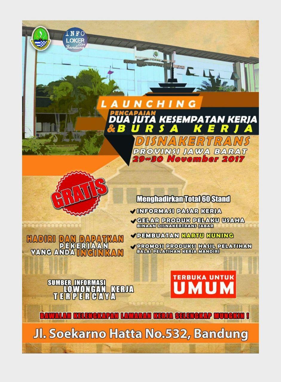 Job Fair Disnakertrans Jawa Barat 29 - 30 November 2017