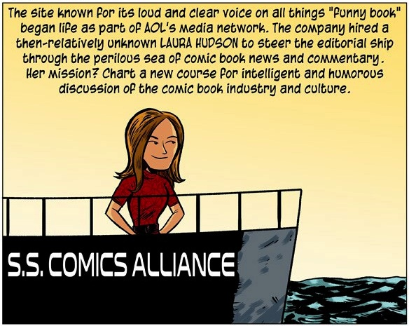 The History Of ComicsAlliance Explained by Curt Franklin and drawn by Chris Haley