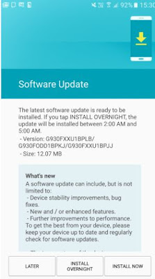 Galaxy S7 and S7 edge update