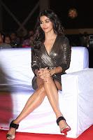 Pooja Hegde looks glamarous in deep neck sleevless short tight golden gown at Duvvada Jagannadham thank you meet function 071.JPG