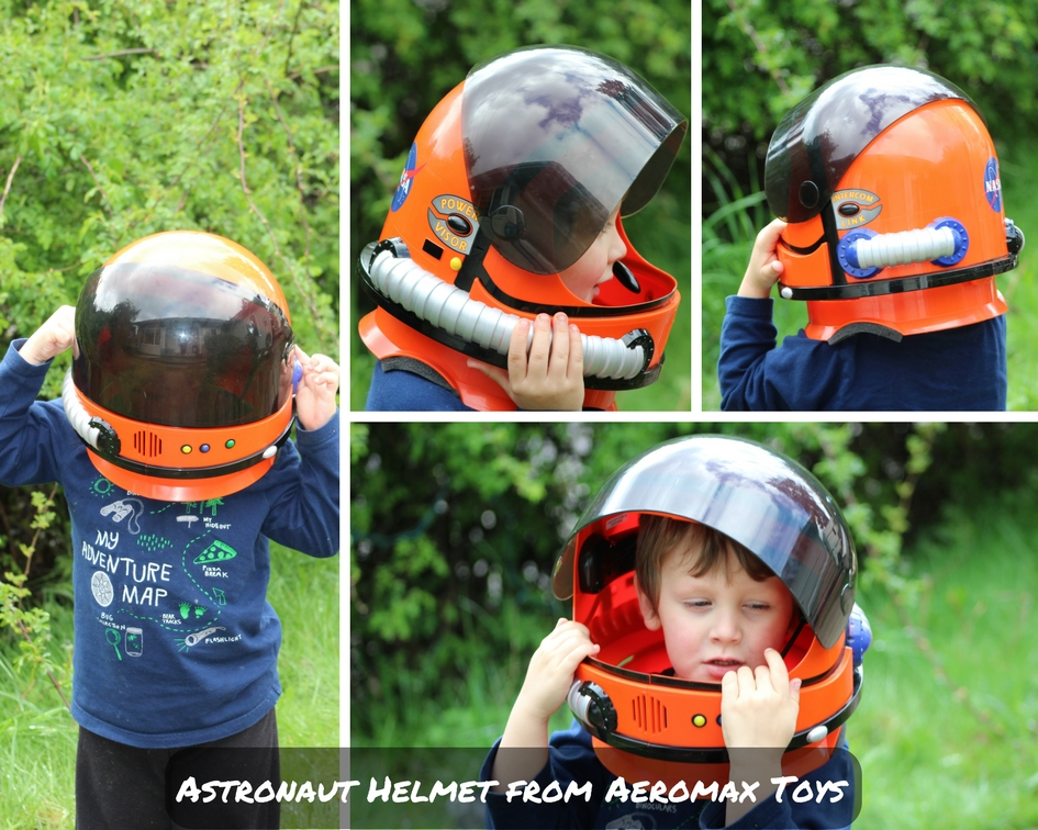 Kids Astronaut Helmet With Sound From Aeromax Toys To Review I Was Excited Share It My Little Guy And Watch As He Prepared For Takeoff On His