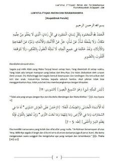 Download Kitab Lum'atul I'tiqad PDF Lengkap Syarah dan Terjemahannya