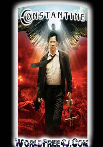 Poster Of Free Download Constantine 2005 300MB Full Movie Hindi Dubbed 720P Bluray HD HEVC Small Size Pc Movie Only At worldfree4u.com
