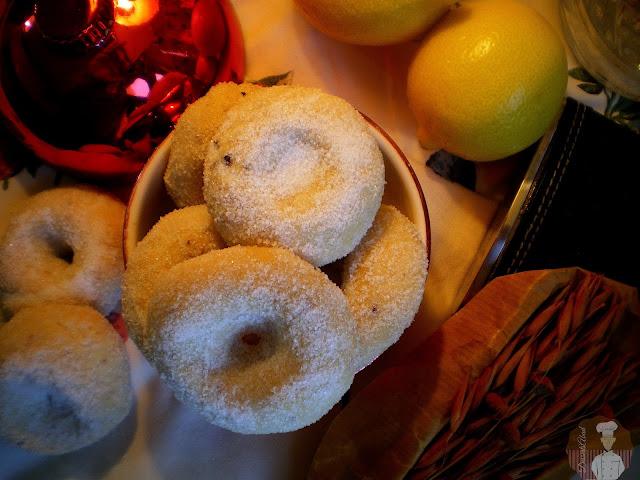 Rosquillas hojaldradas de anís {al horno}
