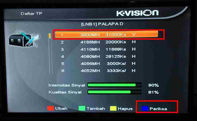 Cara Scan Ulang Receiver K-Vision Bromo c1000