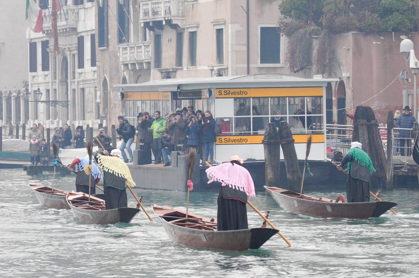 Racing Befanas, Befana race, Venice, Italy