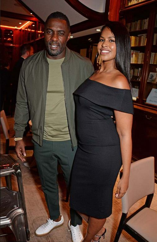 Idris Elba parties with daughter and fiancée