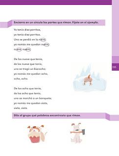 Apoyo Primaria Español 1er grado Bimestre 3 lección 16 Mi opinión sobre la canción