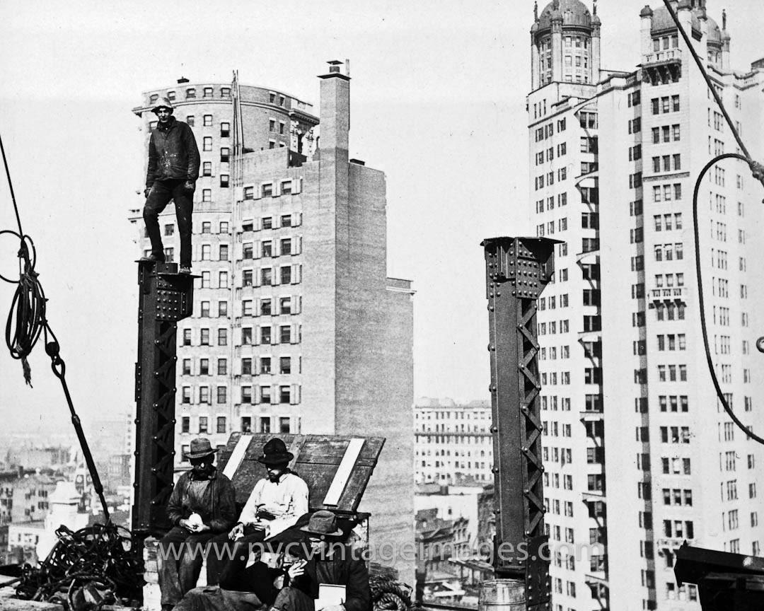new york history geschichte erecting a skyscraper 1906. Black Bedroom Furniture Sets. Home Design Ideas