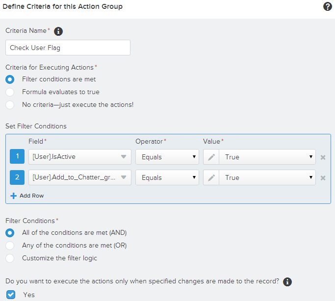 Salesforce User Flow: SimplySfdc.com: Salesforce: Auto Add User To Chatter Group