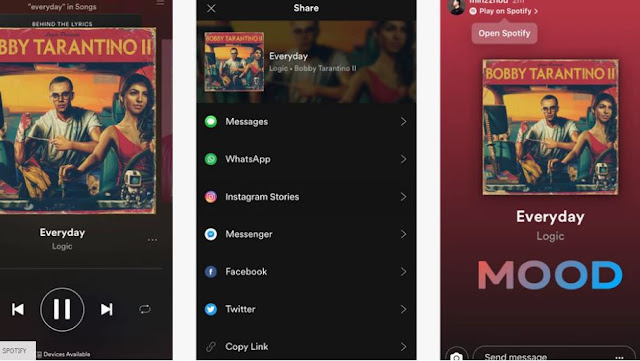 Cara Share Musik Spotify Ke Instagram
