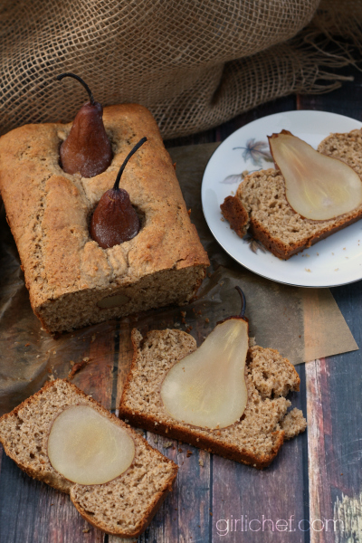 Spiced Buttermilk Poached Pear Bread