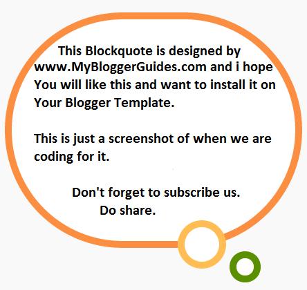 Blogger Blockquote Style 1