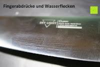 Fingerabdrücke: SKY LIGHT Kochmesser Profi 20 CM Küchenmesser Allzweckmesser Chefmesser Schärfsten Klinge Hochkohle Rostfreier Stahl Rutschfest Griff Köche Messer zum Schneiden Hacken