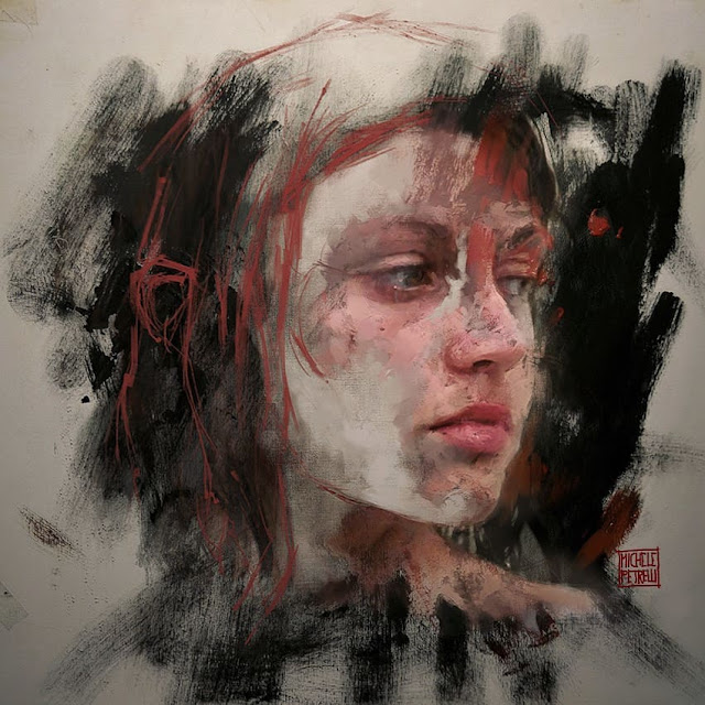 Portrait 190 oil and mixedmedia