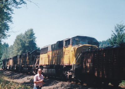 Union Pacific SD60M #6329 at Hampton, Oregon, on July 20, 1997