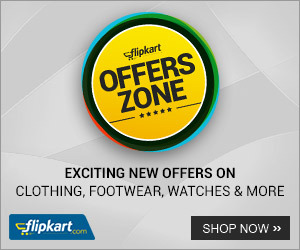 flipkart new Offers  on clothingfootwear,watches and More