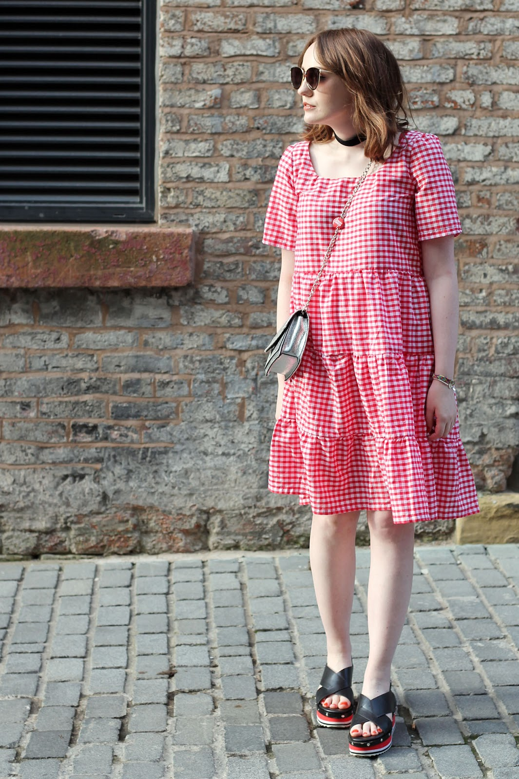copy of Zara gingham midi dress SS17 trends