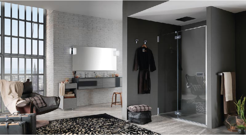 collezione OSCAR parete doccia AZURE by Inda