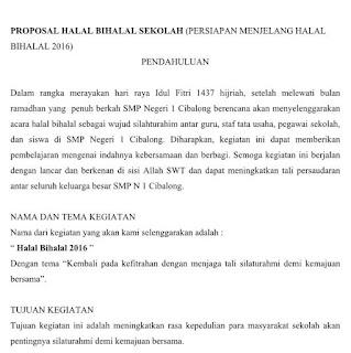 Contoh proposal halal bihalal sekolah update