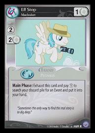 My Little Pony Eff Stop, Muckraker Premiere CCG Card