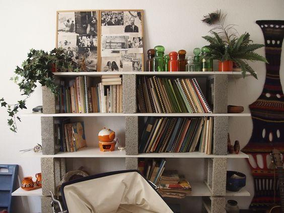 Fabrica tus propios muebles con bloques de hormig n for Muebles con ladrillos