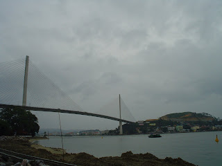 Bridge over the river in Halong Bay