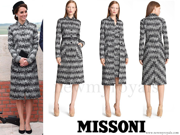 Kate Middleton wore the Missoni Long Snake Stitch Coat