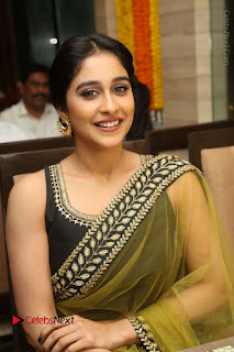 Actress Regina Stills in Green Saree at Vivaha Bhojanambu Restaurant Launch  0138.JPG