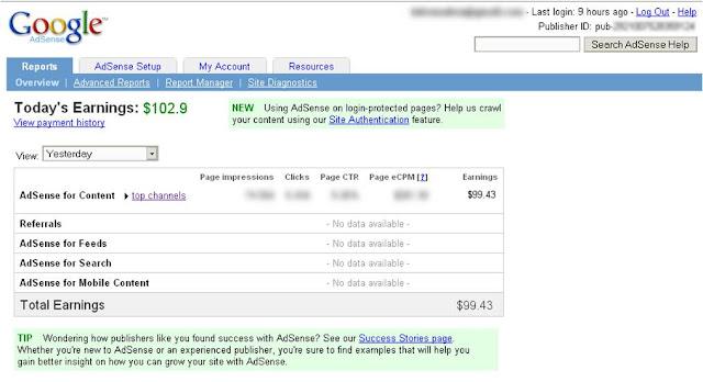 Bagaimana cara mendapatkan $100 dengan cepat dari google adsense