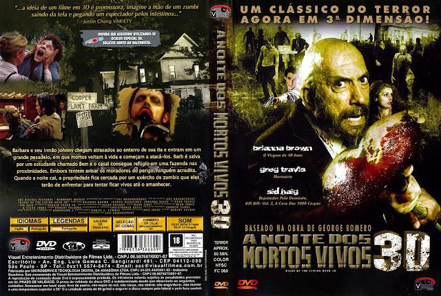 Capa DVD A Noite dos Mortos Vivos 3D