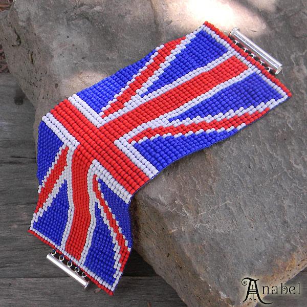 украшения из бисера от Anabel широкий браслет из бисера