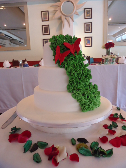 Green And Red Wedding