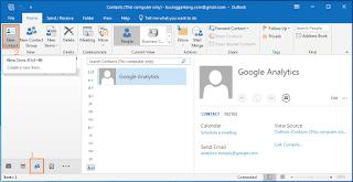 Cara Menambahkan Kontak Email Baru di Microsoft Outlook 2016