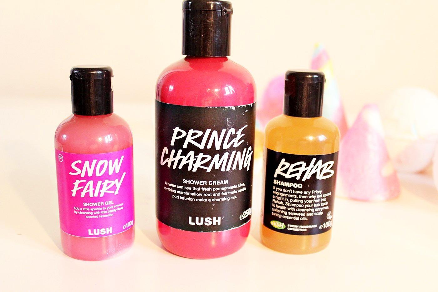 lush shower gels