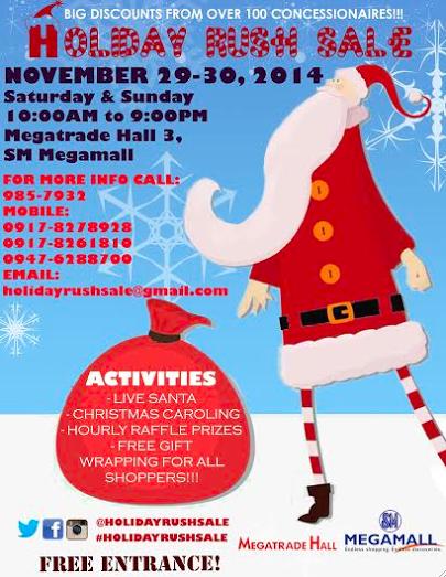 Manila Shopper  Holiday Rush Sale at SM Megatrade  Nov 2014 1b6d1983e