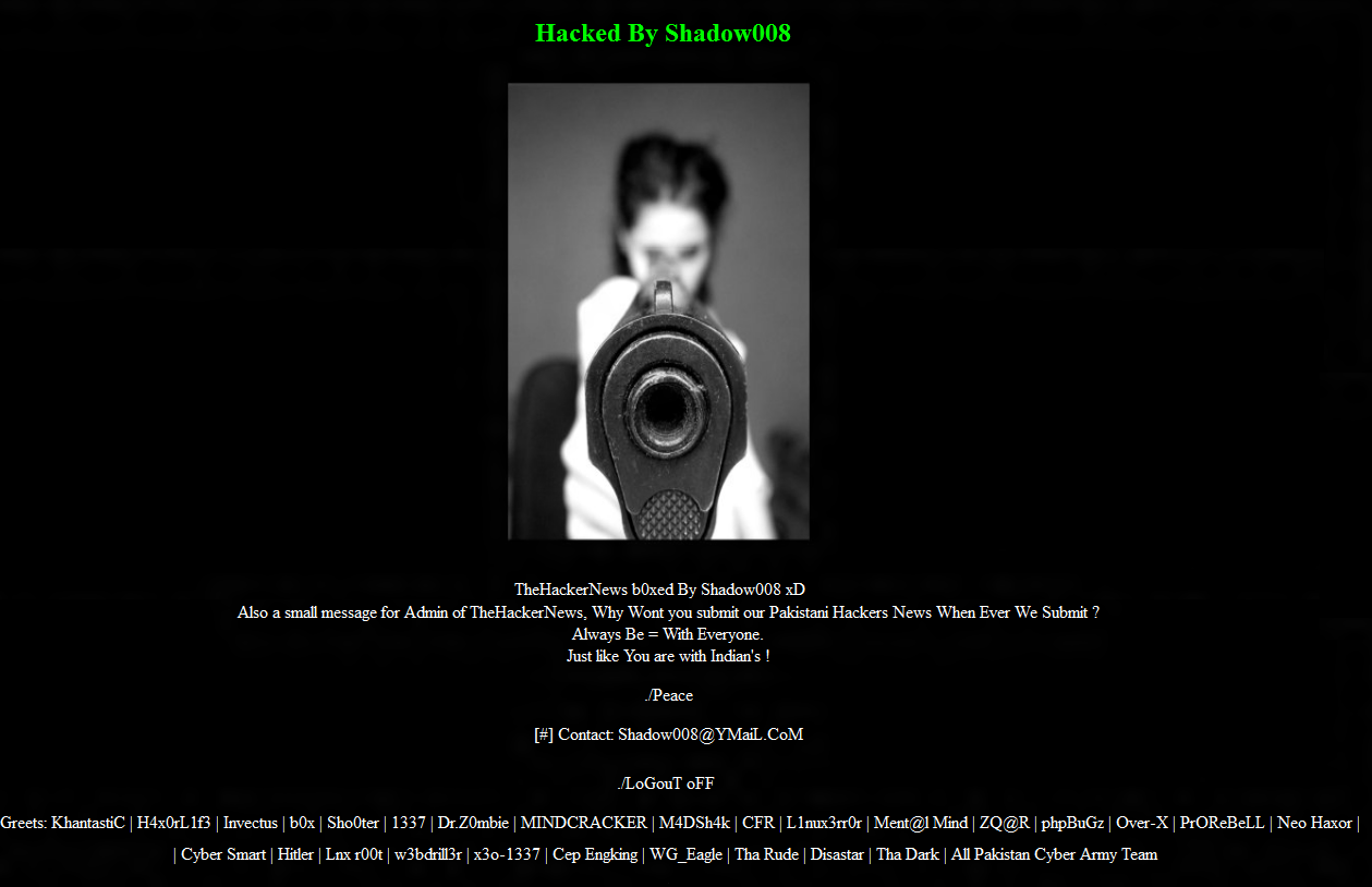 COMPUTER KORNER: The Hacker News Official Site Hacked by