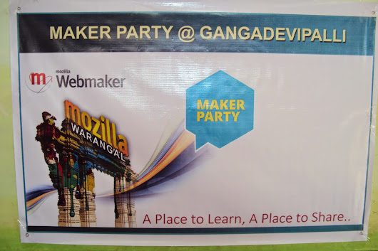 MozRide to a Village – Maker Party @ Gangadevipally