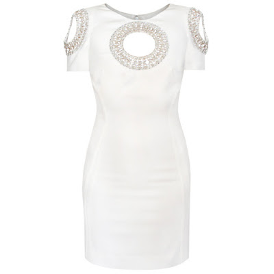 azzaro paris couture cut out circle swarovski dress