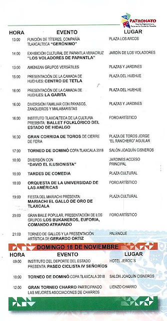 programa feria tlaxcala 2018