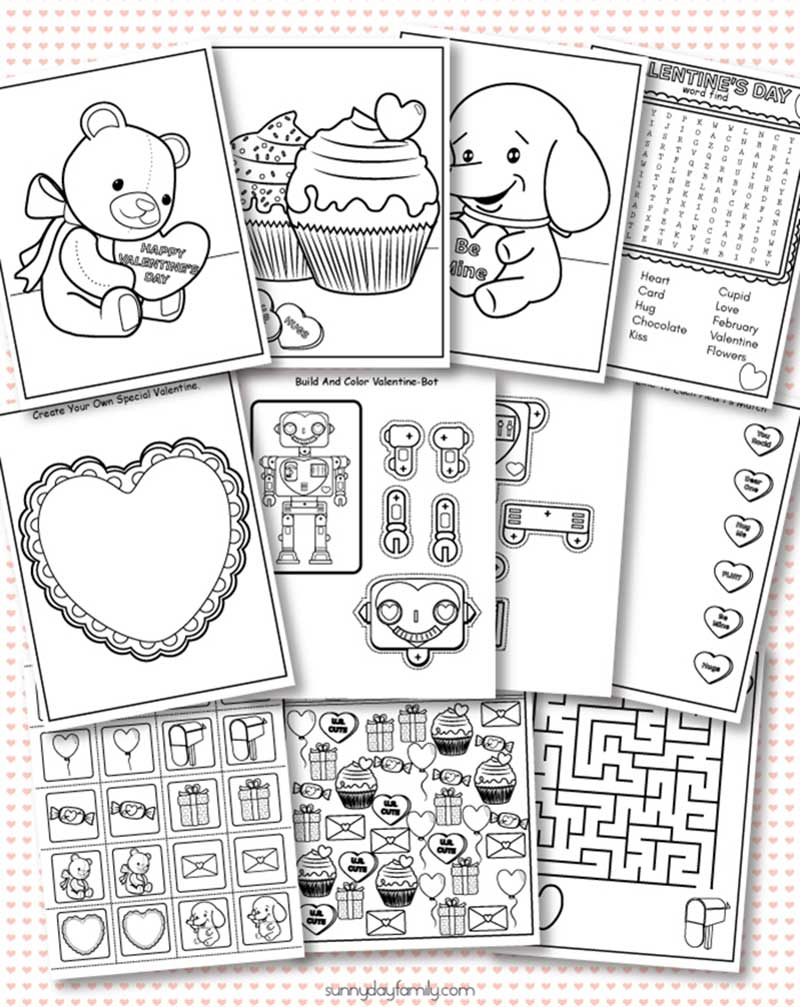 free printable valentine coloring pages  u0026 activity sheets