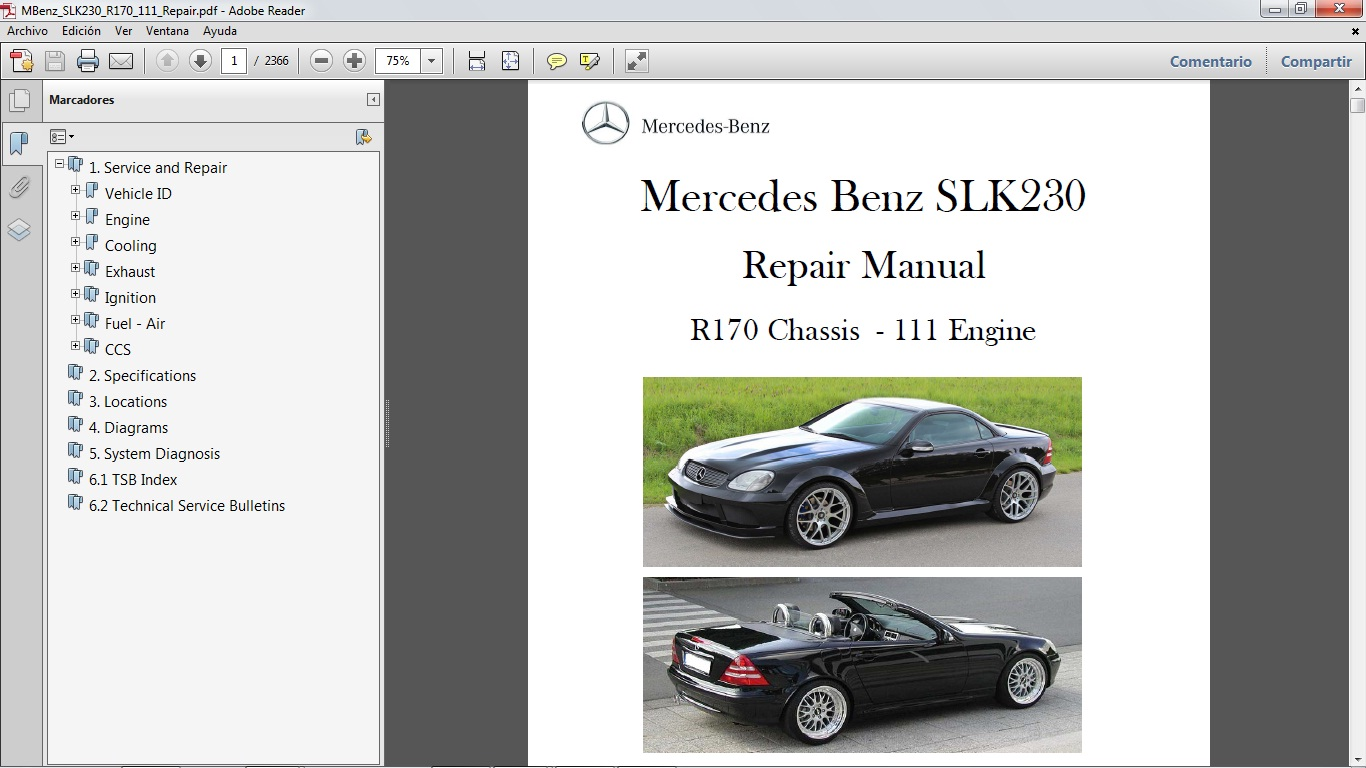 mercedes slk 230 engine diagram wiring library manual para reparaci n del mercedes benz slk230 chassis r170 [ 1366 x 768 Pixel ]