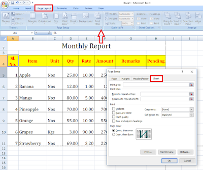 How to Repeat Rows & Column on All Excel Pages (Row on Top),top row repeat on all pages,repeat row on all page,Rows to repeat at top,sheet row repeat,repeat colum on every page,repeat row on top of every page,every page top row,repeat row,excel row,excel column,repeat cell to all pages,add row on top of all pages,column,excel 2007,ms excel,excel 2016,how to repeat,page setup,add rows on top,insert rows on every page How to Repeat Rows & Column on All Excel Pages (Row on Top)
