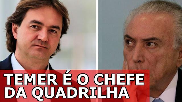JBS TEMER É O CHEFE DA QUADRILHA MAIS PERIGOSA DO BRASIL